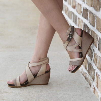 FREEDOM in STONE Wedge Sandals