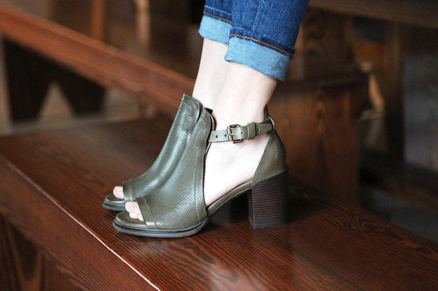METAPHOR in MINT Heeled Sandals