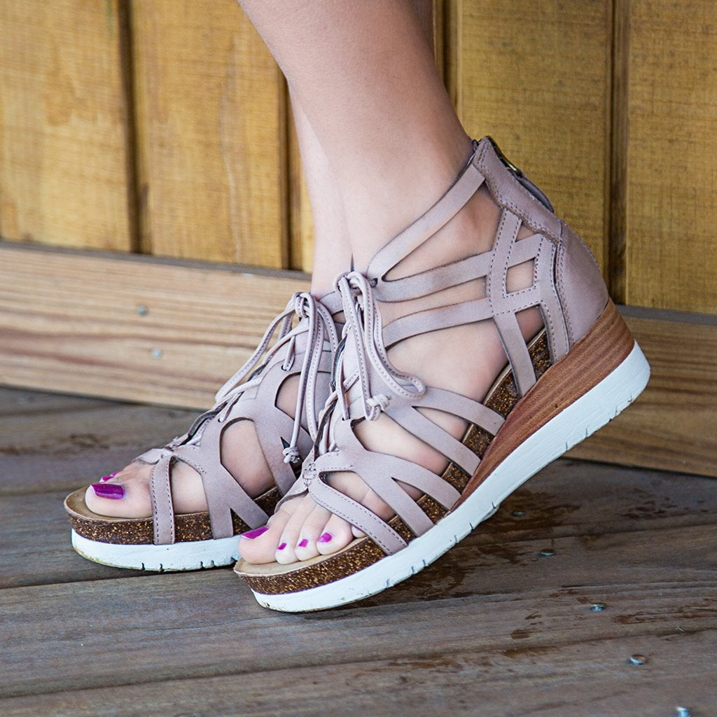 cfb3f5c41 Escapade in Warm Pink Wedge Sandals | Women's Shoes by OTBT