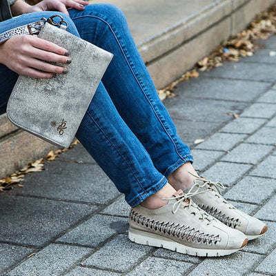 womens fashion sneaker nebula in bone closeup casual style
