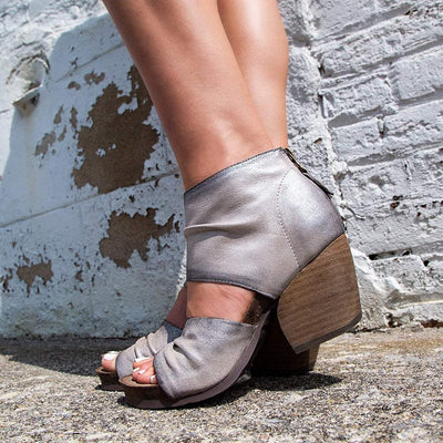 Womens heeled sandal patchouli bright silver