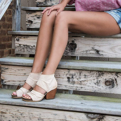 Womens heeled sandals patchouli in ivory close up