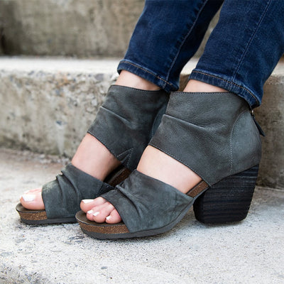 Patchouli dusty grey heel sandal