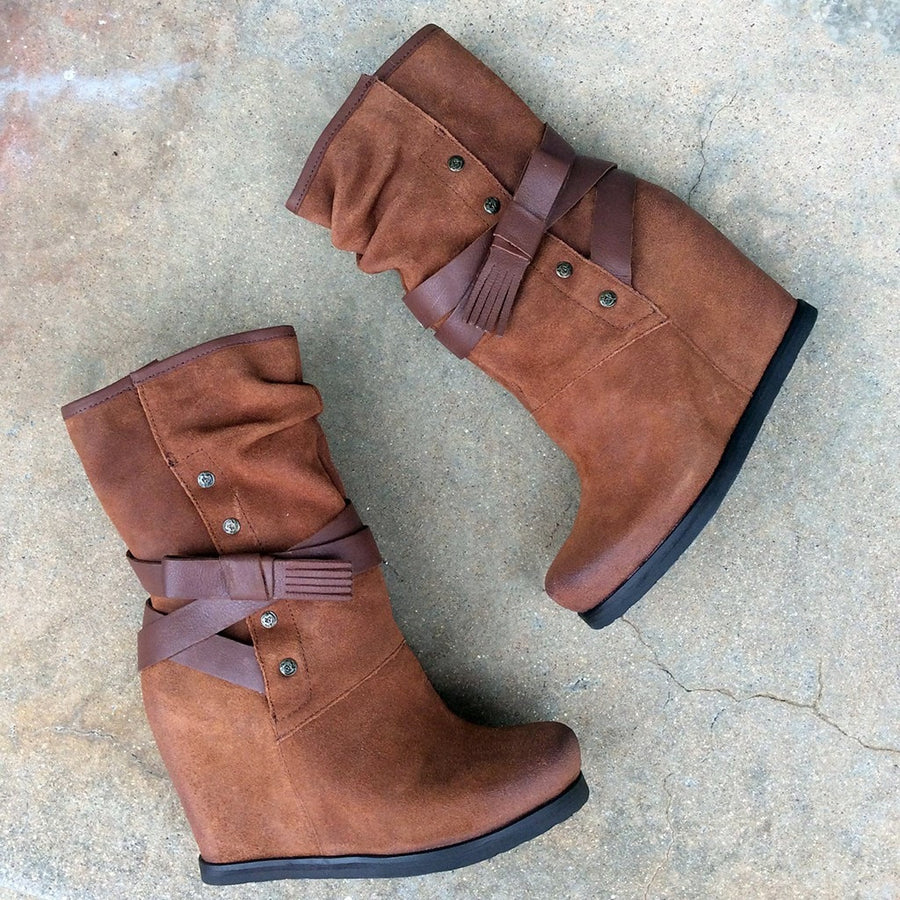 CHAKRA in NEW TAN Ankle Boots