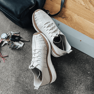 Alstead in dove grey travel sneakers