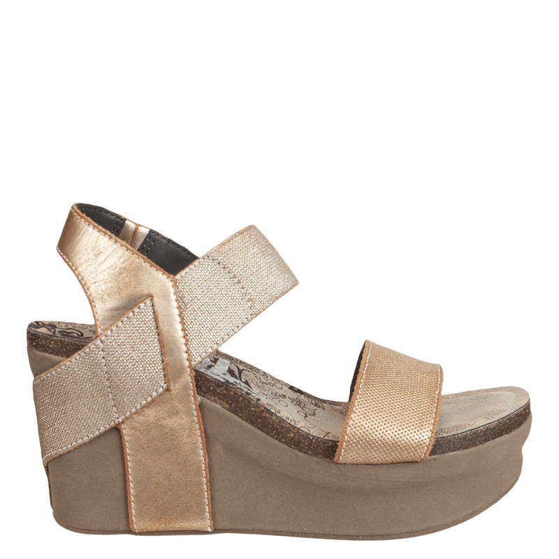 BUSHNELL in NEW BRONZE Wedge Sandals
