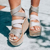 PAVILION in GREY SILVER Wedge Sandals