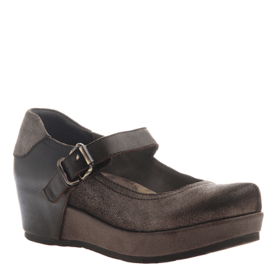 AURA in DARK BROWN Closed Toe Wedges
