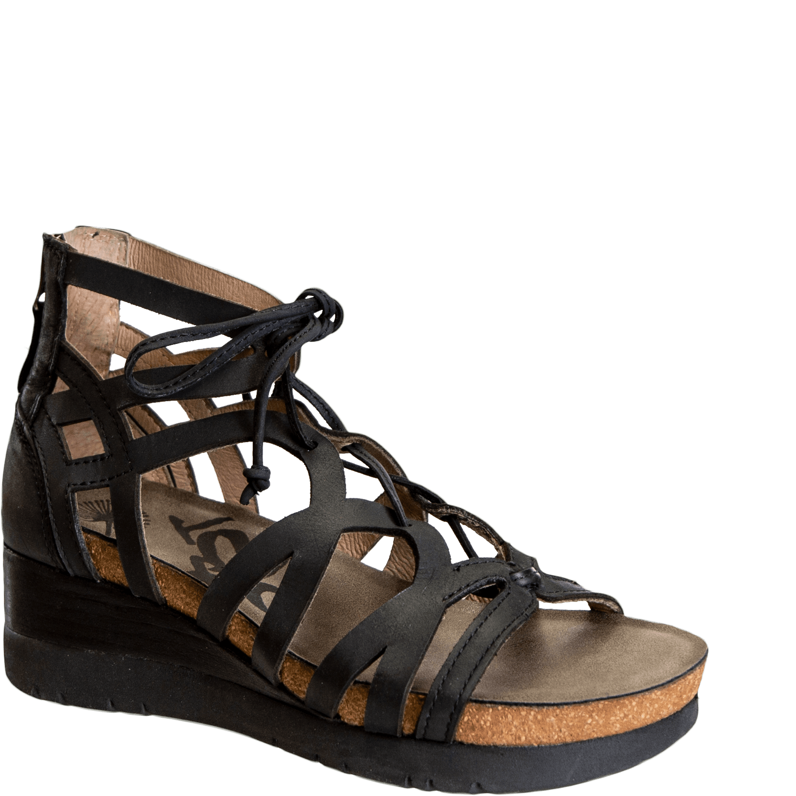 ESCAPADE in BLACK Wedge Sandals