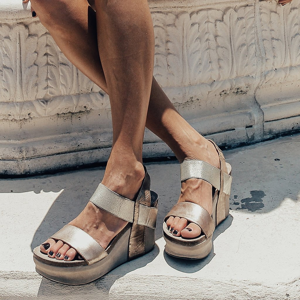 bushnell in gold wedge sandals women s shoes by otbt