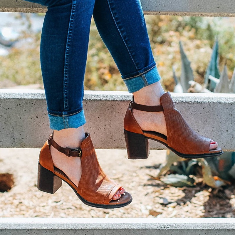 METAPHOR in MEDIUM BROWN Heeled Sandals