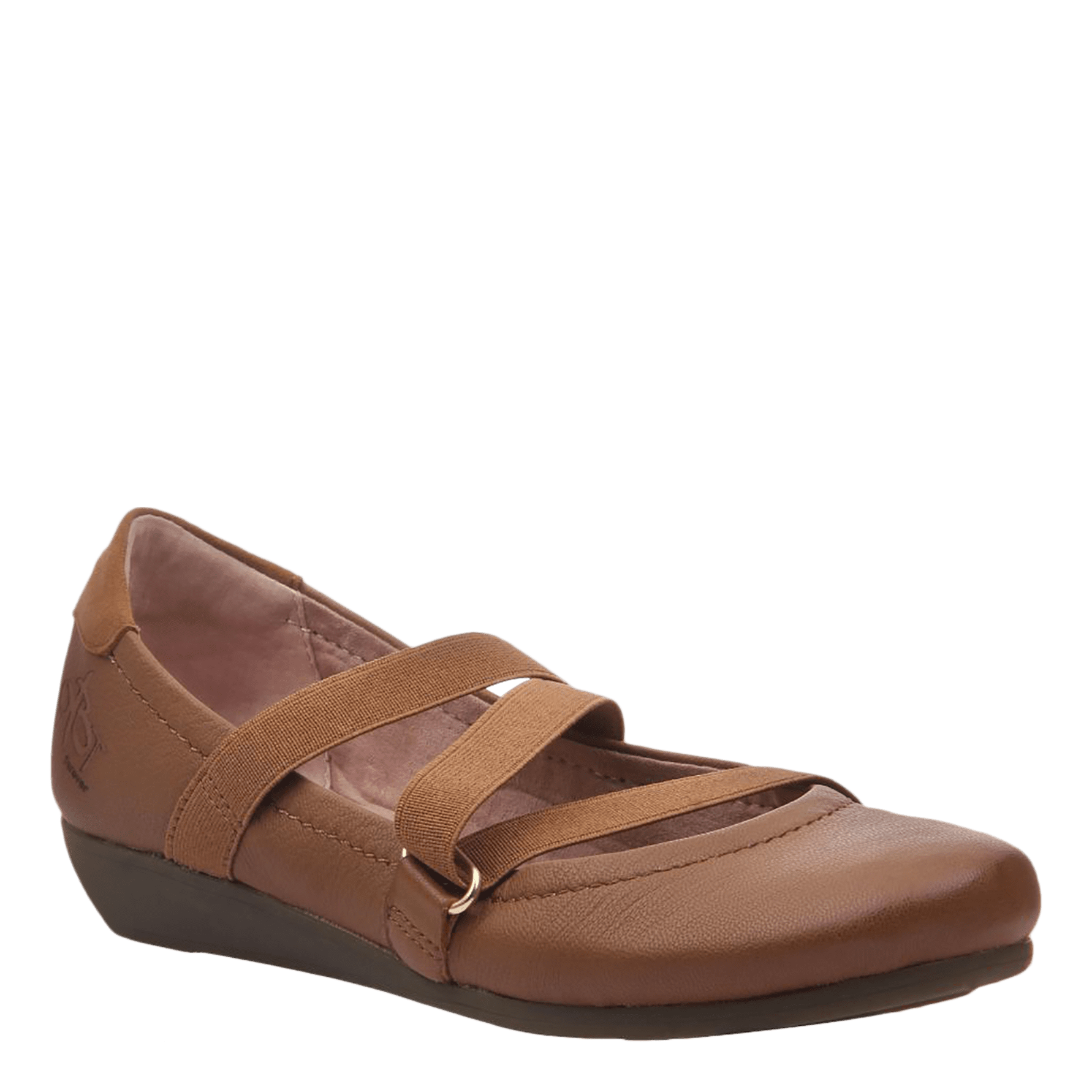 Womens ballet flat anora in butterscotch