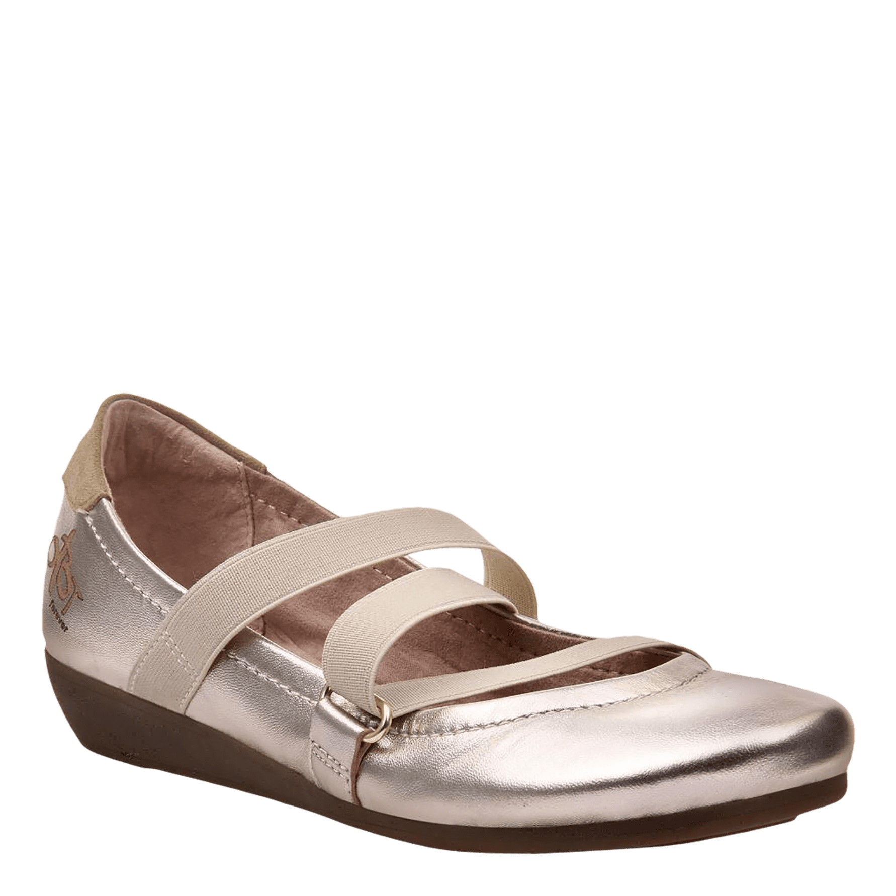 Womens ballet flat anora in old gold