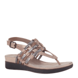 AVIATE in COPPER Wedge Sandals