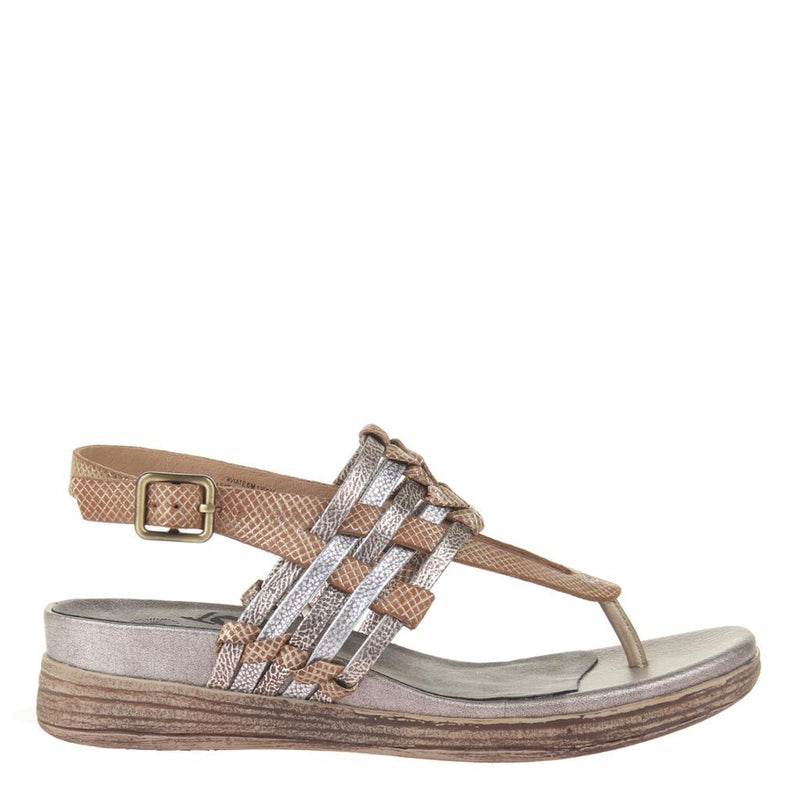 AVIATE in GOLD Wedge Sandals
