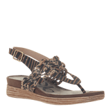 AVIATE in NEW TAN Wedge Sandals