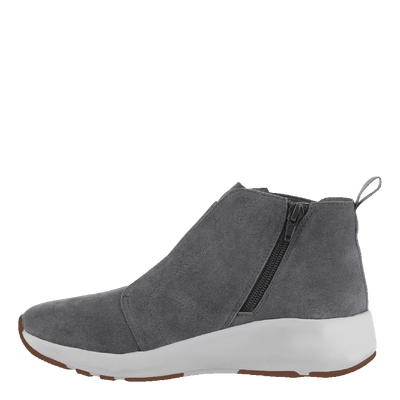 Womens cold weather boots Bethel in soft grey inside view