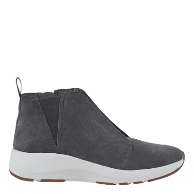 Womens cold weather boots Bethel in soft grey side view