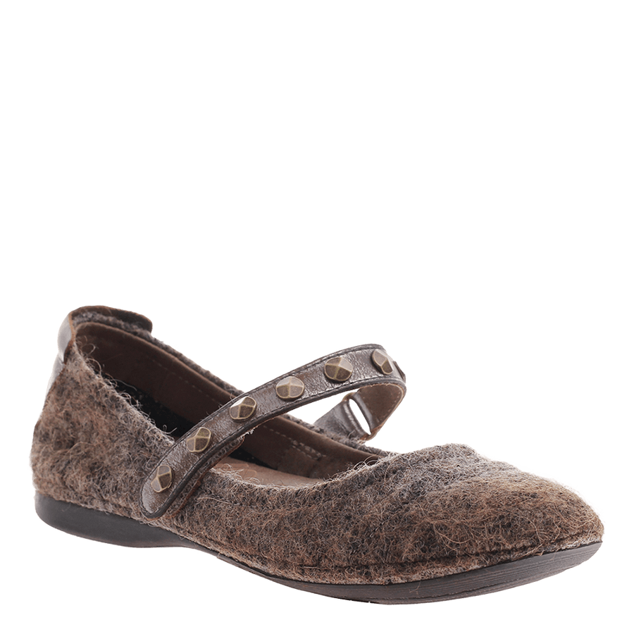 OTBT, Brea, Rich Brown, Ballet flat with studded strap