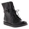 OTBT, Brentsville, Black, leather boot with laces and side buckle