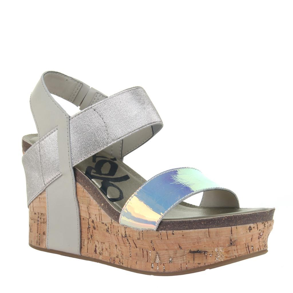 BUSHNELL in IRIDESCENT Wedge Sandals