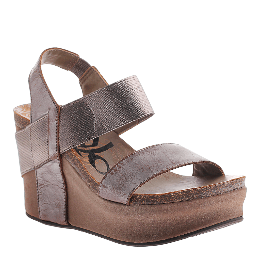 Bushnell in Pewter Wedge Sandals