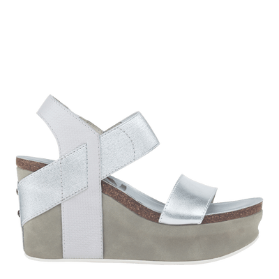Womens wedge Bushnell in Silver right