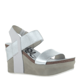 BUSHNELL in SILVER Wedge Sandals