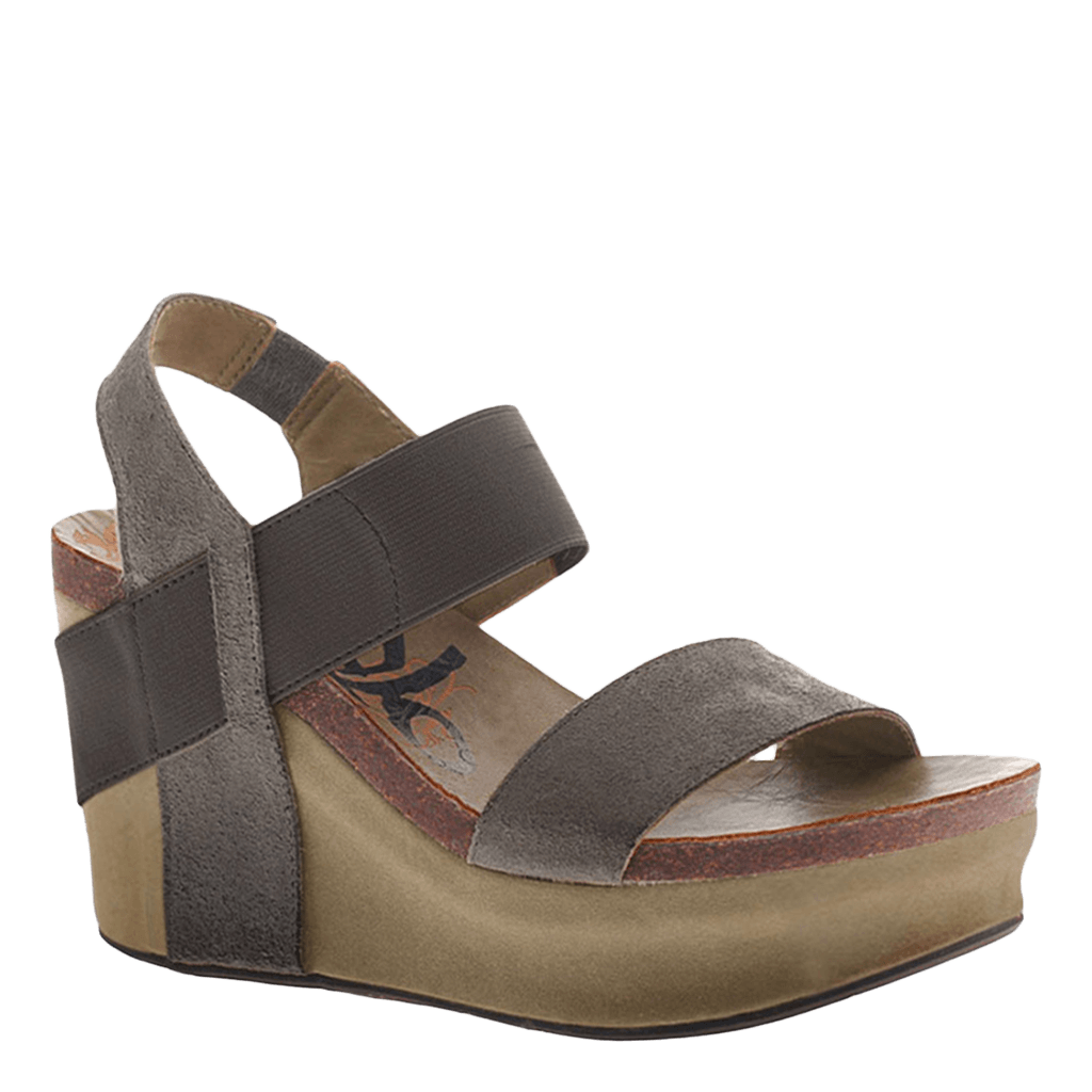 13caf35aa9e Bushnell in Soft Grey Wedge Sandals