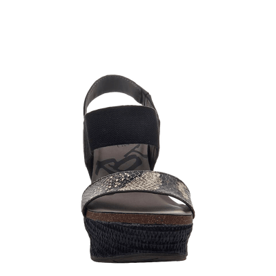Womens wedge Bushnell black black front