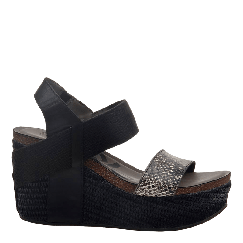 Womens wedge Bushnell black black