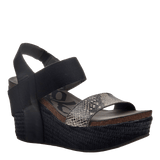 BUSHNELL in BLACK BLACK Wedge Sandals
