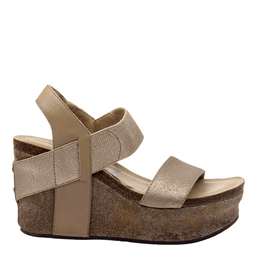 Womens wedge Bushnell in mid taupe