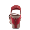 Womens wedge Bushnell in red back view