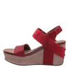 BUSHNELL in RED Wedge Sandals