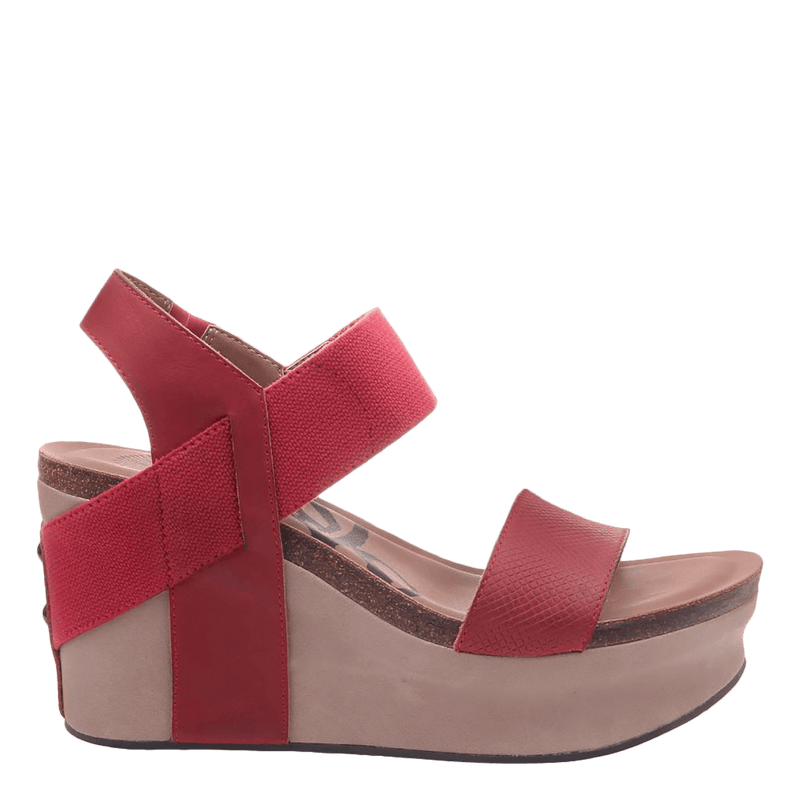 Womens wedge Bushnell in red