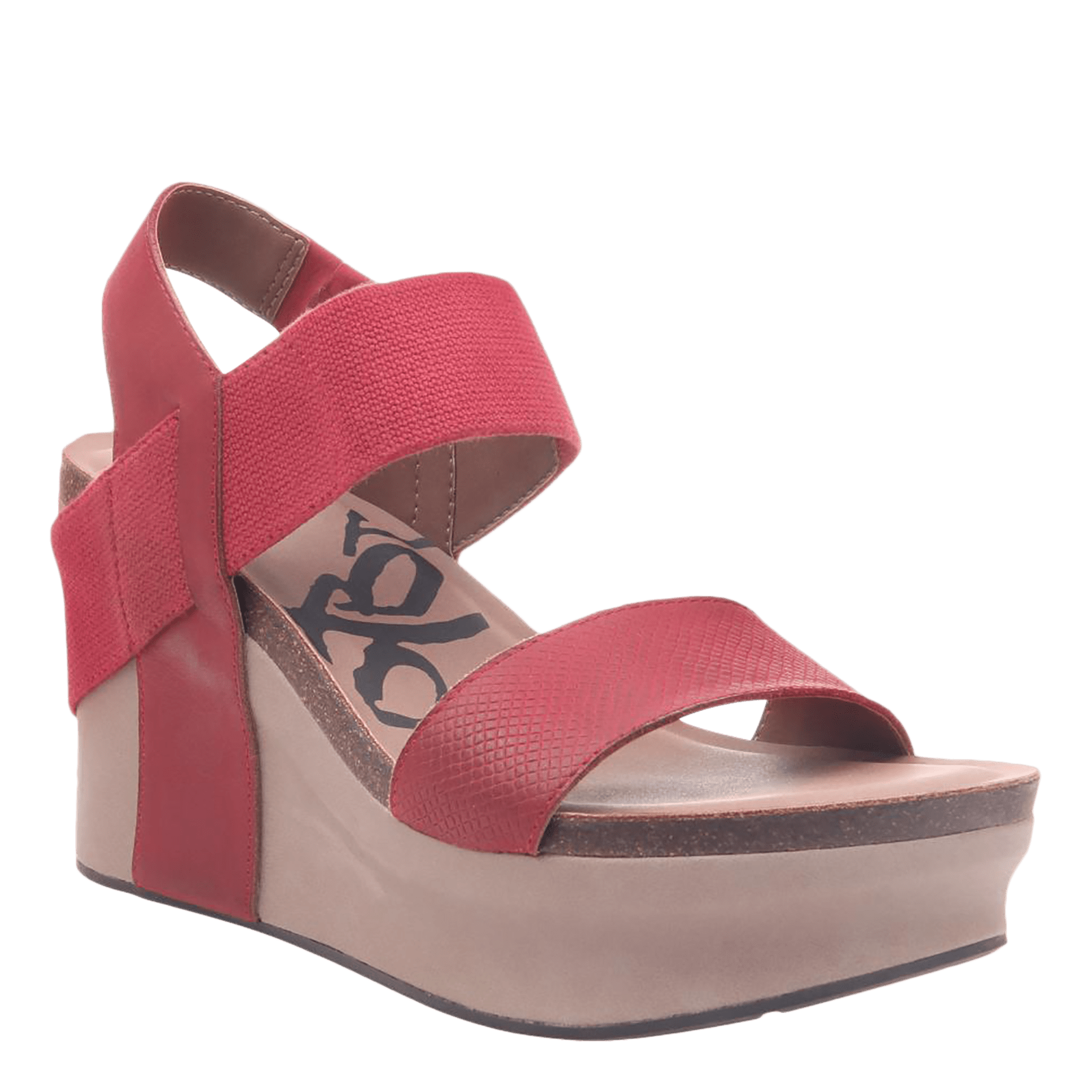 Bushnell in Red Wedge Sandals | Women's