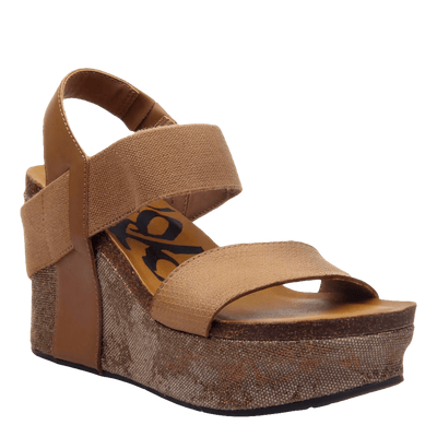 Womens wedge Bushnell in taupe