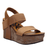 BUSHNELL in TAUPE Wedge Sandals