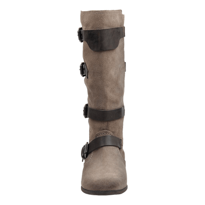 Womens boot calamity dark taupe front
