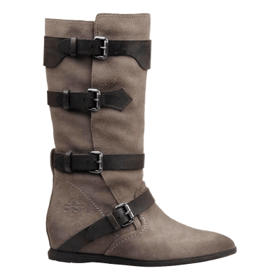 Womens boot calamity dark taupe side view