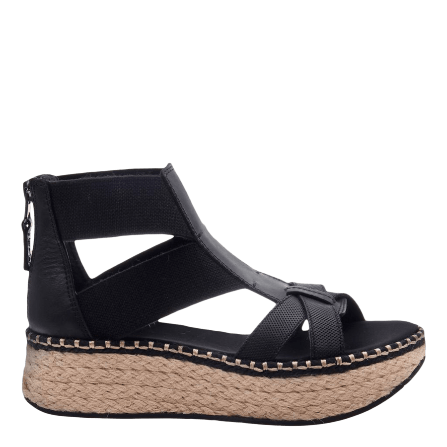 Womens Cannonball wedge sandal in black