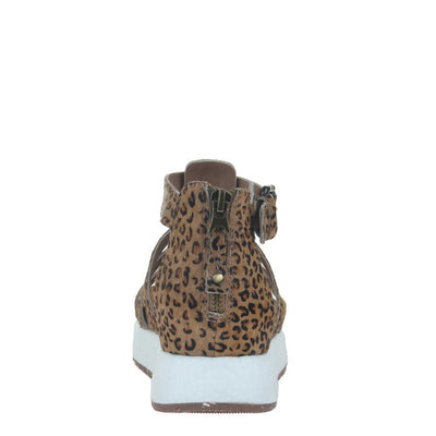 CARBON in CHEETAH PRINT, back view