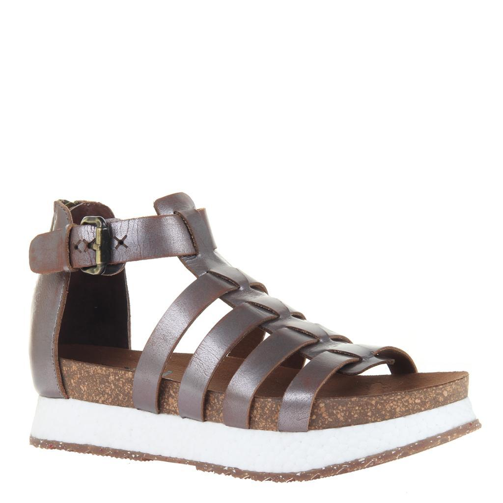 CARBON in PEWTER Wedge Sandals
