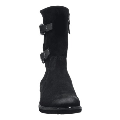 Causeway womens boot in black front view
