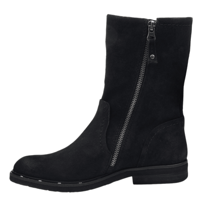 Causeway womens boot in black inside view