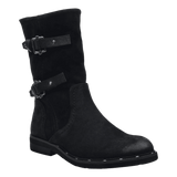 CAUSEWAY in BLACK Mid-Shaft Boots