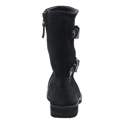 Causeway womens boot in black back view