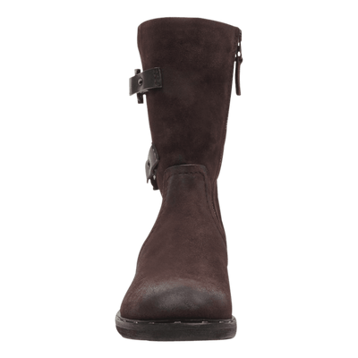 Causeway womens boot in dark brown front view