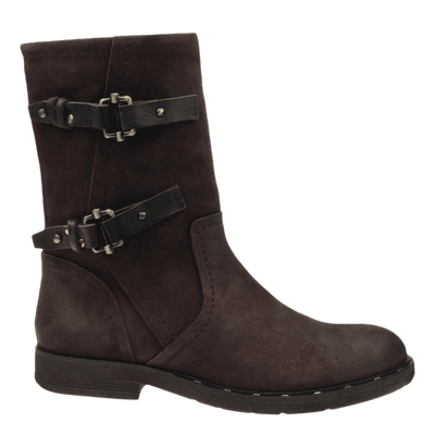 Causeway womens boot in dark brown side view